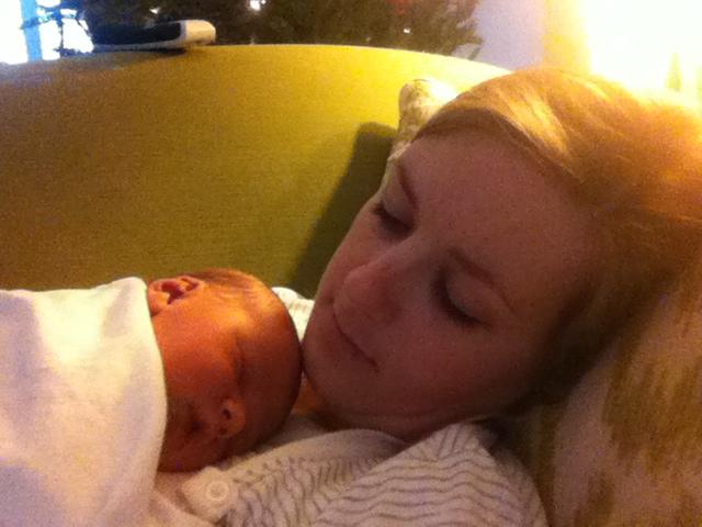 Momma and sleepy Jacob
