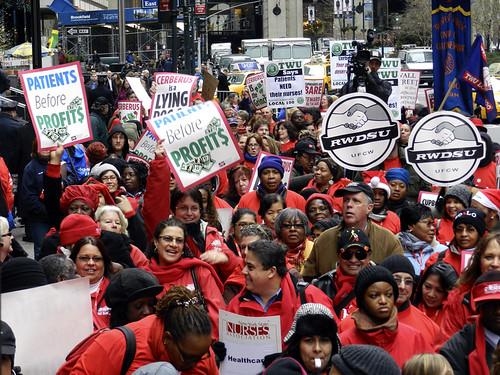 Nurses protest Cerberus