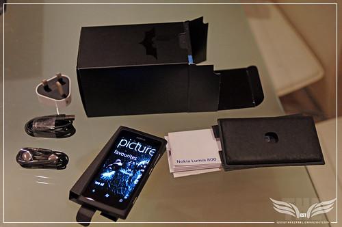 The Establishing Shot: Nokia Lumia 800 Dark Knight Rises Bat phone box contents by Craig Grobler