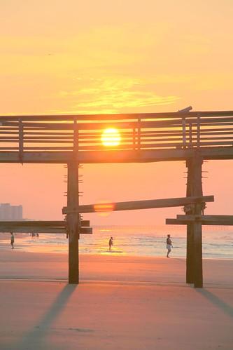 ocean sunrise pier