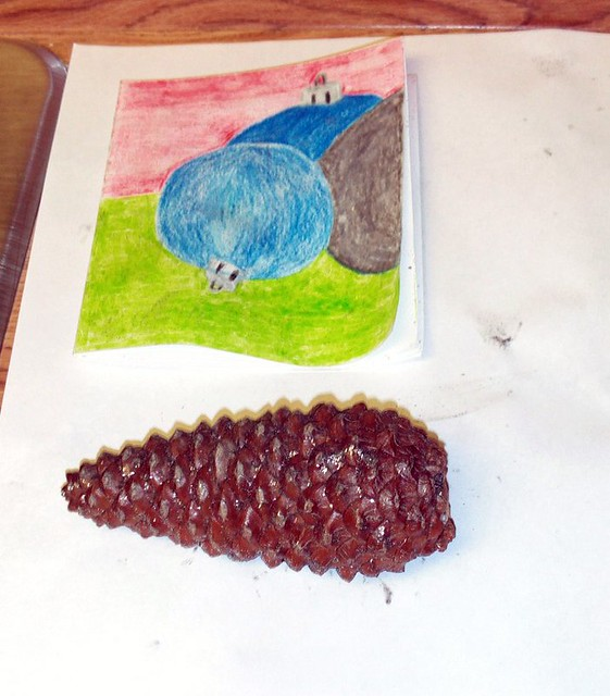 Glitter Christmas Card And The Pine Cone