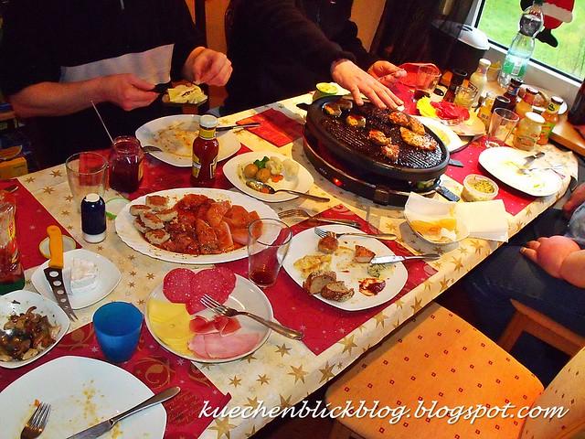 Weihnachtliches Raclette