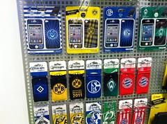 J-Straps Borussia Dortmund (BVB), FC Schalke 04 (S04), MSV Duisburg und SV Werder Bremen Schutzfolie für das Apple iPhone 4/4S