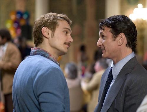 Scott (James Franco) and Harvey (Penn)