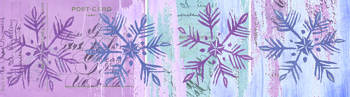 Snow Flakes - Collage Elements 20 altered in PS