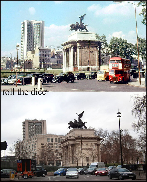 Wellington Arch 1966 and 2011