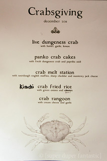 Crabsgiving Menu