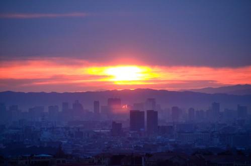 japan sunrise newyear osaka