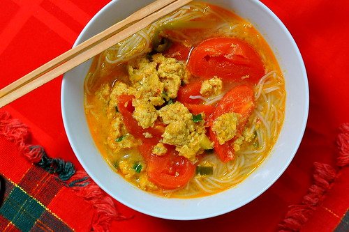Bun Rieu - Vietnamese Crab and Tomato Soup
