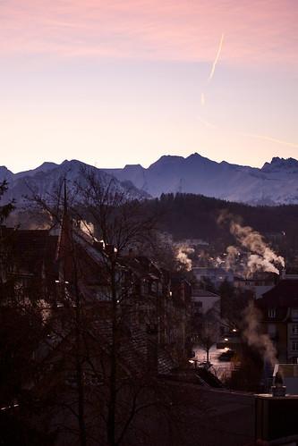 morning schnee winter chimney snow canon schweiz switzerland suisse smoke luzern berge 60mm helvetia svizzera lucerne morgen f28 hdr lucerna 1100 rauch kamine svizra lozärn 50d