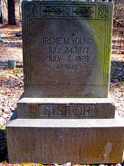 Umstead State Park grave marker