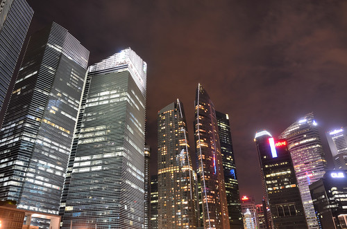 Singapore buildings bynight