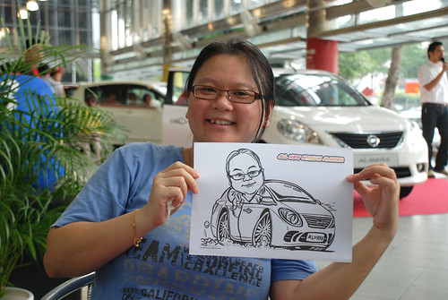 Caricature live sketching for Tan Chong Nissan Almera Soft Launch - Day 1 - 38