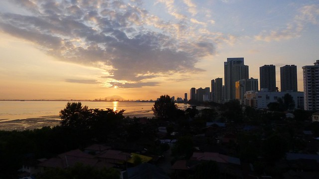 Good Morning Penang! Sunrise From Gurney Drive