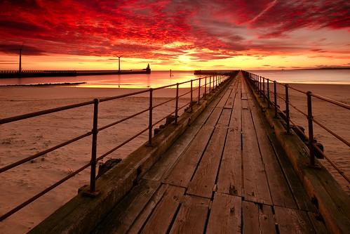 light sea sun lighthouse seascape sunrise canon dawn pier wind harbour sigma explore northumberland 7d boardwalk reverse 1020mm grad hitech turbine blyth explored