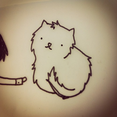 Roundy cat drawing