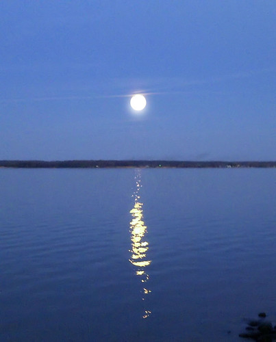 Full Moon Over the Rappahnannock River