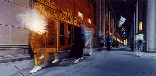 Chicago 13, Civic Opera House, acryl on canvas, 24x48 inch, Takeshi Yamada
