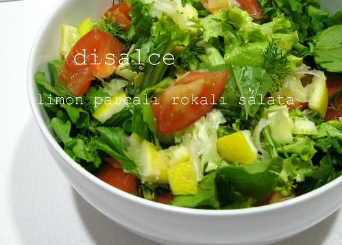 rokalı limon parçalı salata