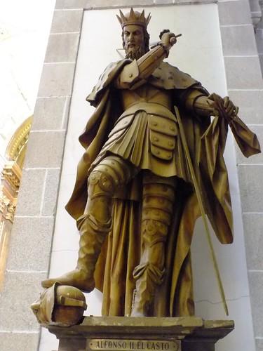 Alfonso II El Casto en el Mosteiro de Samos