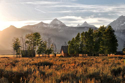 Sunset at the Tetons