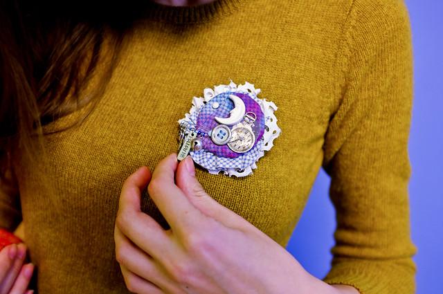 brooch for anonimus santa
