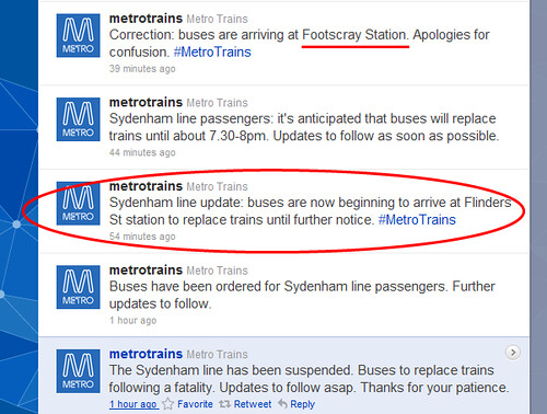POTD: Metro's Twitter feed: No longer timely or accurate