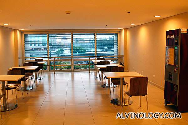 Lounge area on each floor for meal breaks and gatherings