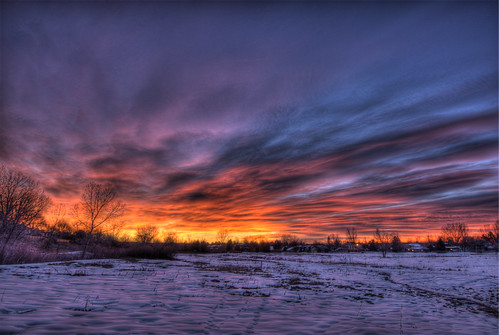 snow sunrise landscape colorado denver broncos littleton 201201