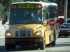 Handicapped Polk District Schools Bus 0702 with Stop Signals Displayed