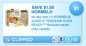 Hormel Always Tender Oven Ready Flavored Meats (any Variety) Coupon