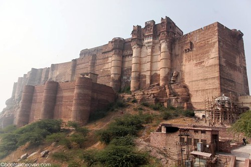 Mehrangarh Fort, growing out of the hillside