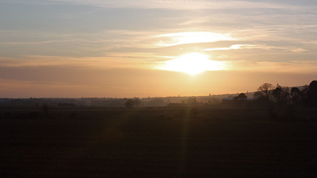 Sunset over the Mearns