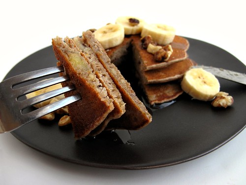 buckwheat pancakes sliced