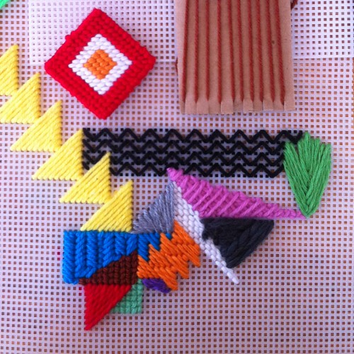 plastic canvas and triangles