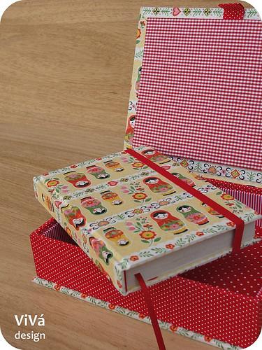 Kit: agenda + caixa