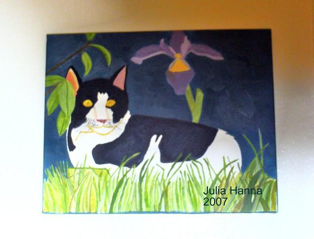 Cat And The Iris