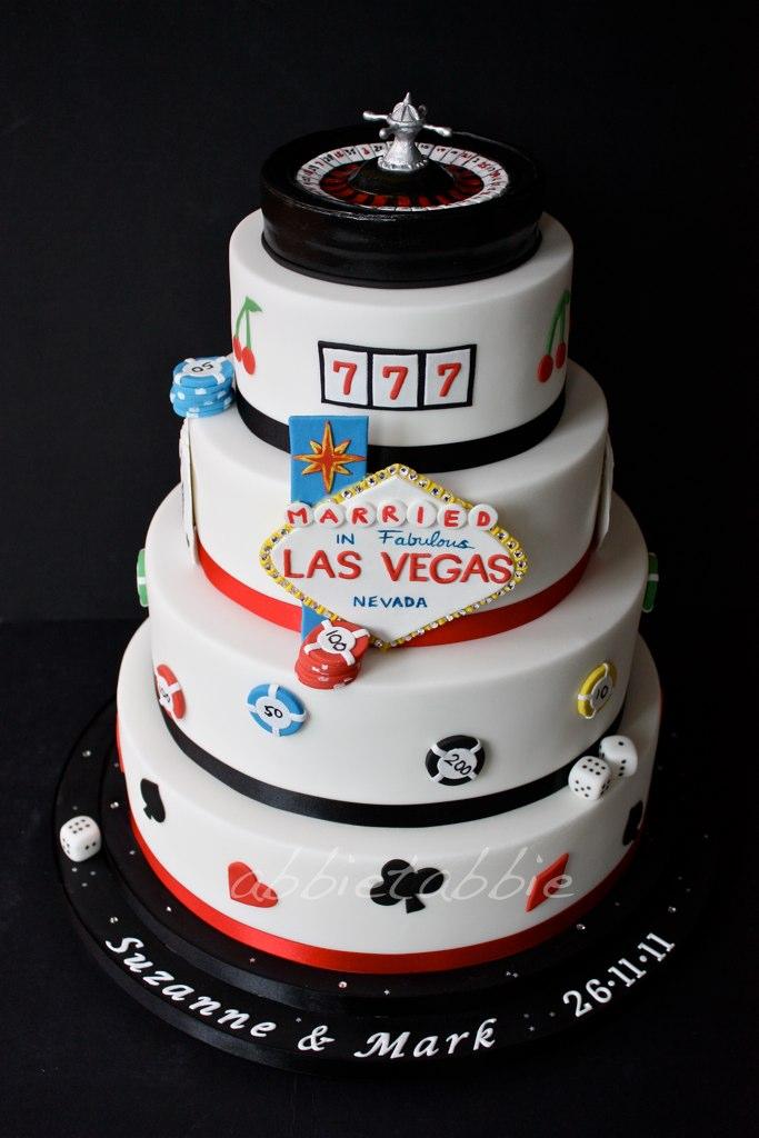 Las Vegas Themed Wedding Cake