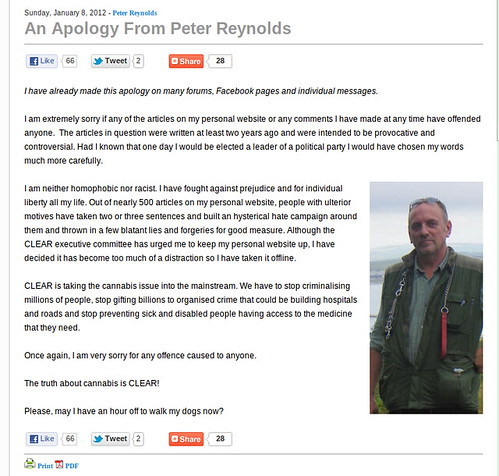 peter reynolds and his non apology