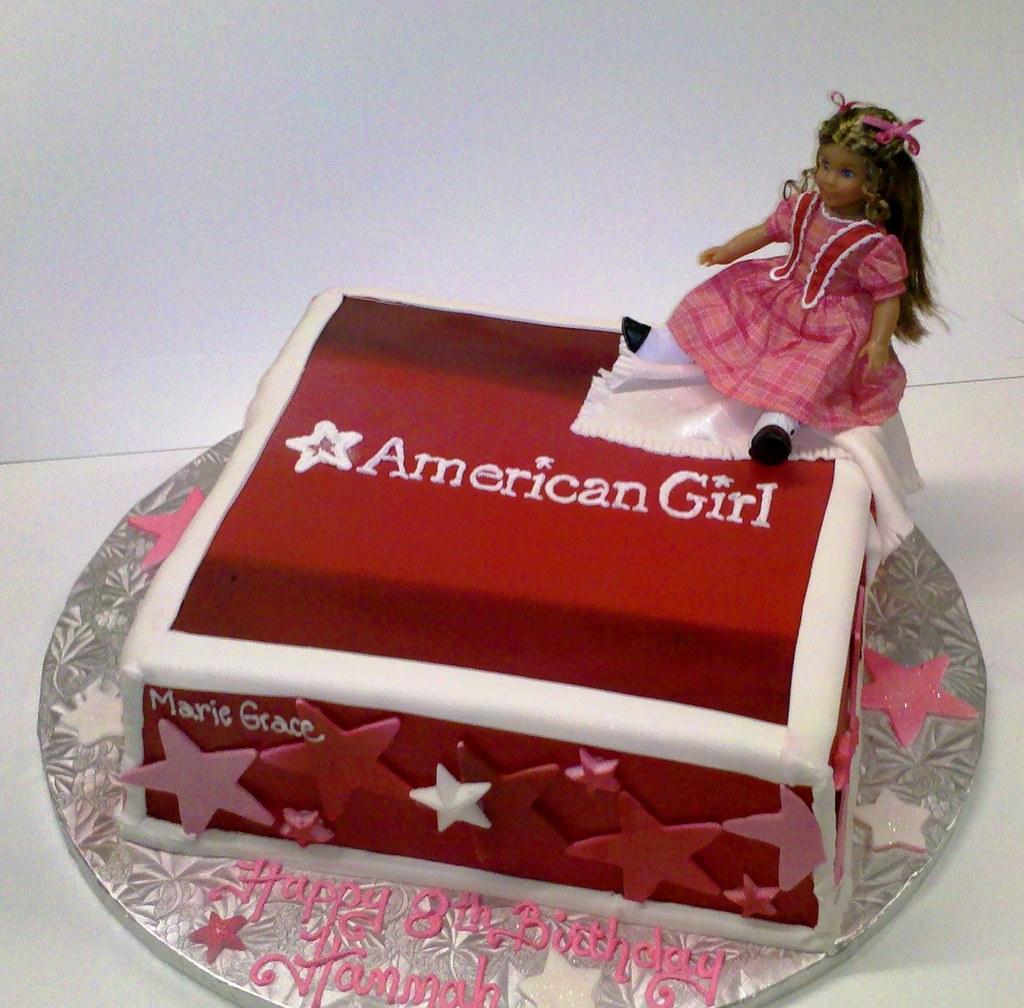 American Girl Doll Box Cake