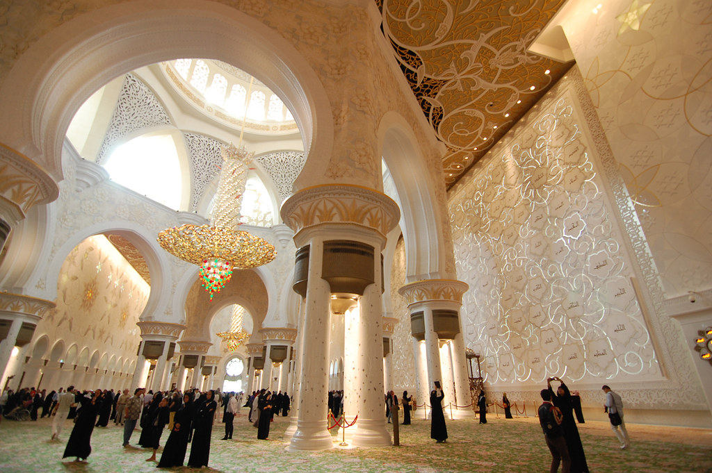 Sheikh Zayed alfombra mezquita