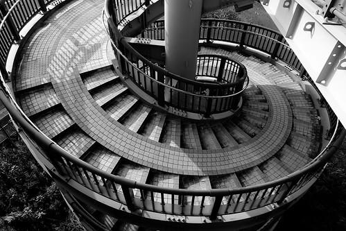 千波大橋 螺旋階段