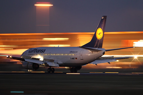 I really love this one; panning @ 1/10 with 500mm handheld ISO2500 F/4 ! Taken at EHAM Schiphol.