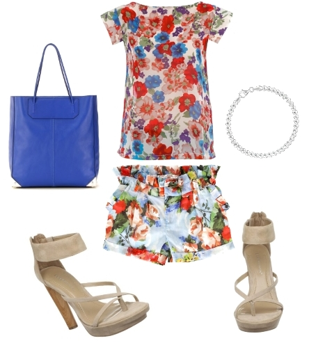 How to Wear Florals Outfit1