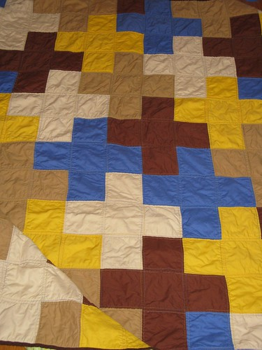 Ella H's Dead Simple Cross quilt, detail