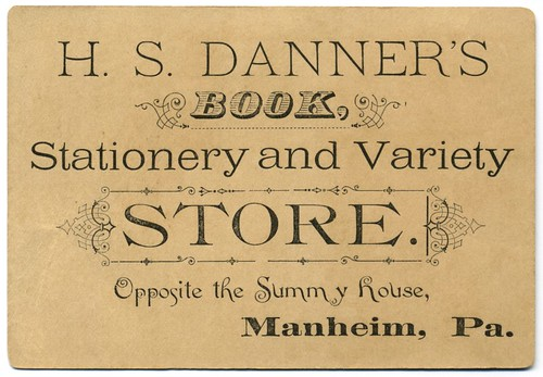 H. S. Danner's Book, Stationery, and Variety Store, Manheim, Pa.