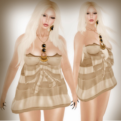 A&A Fashion Serena Dress Cappucino