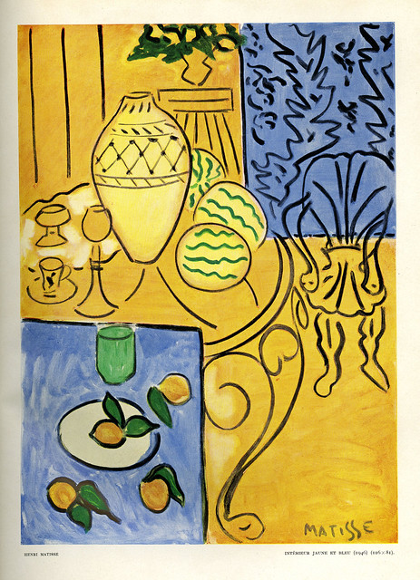 Interieur jaune et bleu 1946 henri matisse flickr for Interieur rouge matisse