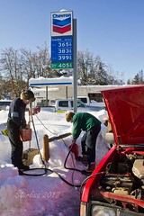 Pumping Gas the Old Fashioned Way