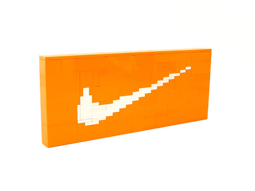 Orange Nike Swoosh